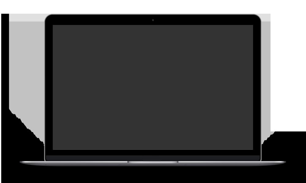 Macbook no logo - Vectore