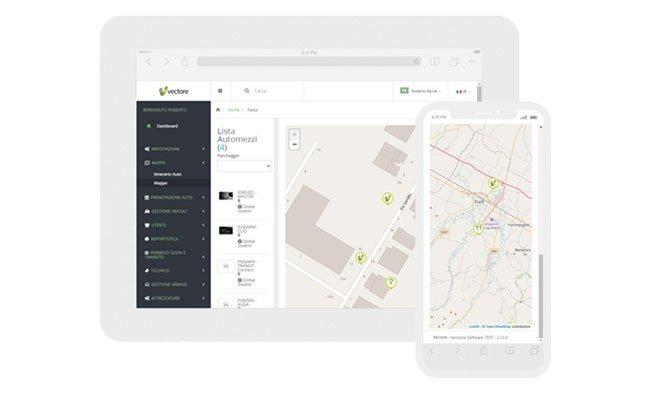 App Vectore per flotta aziendale